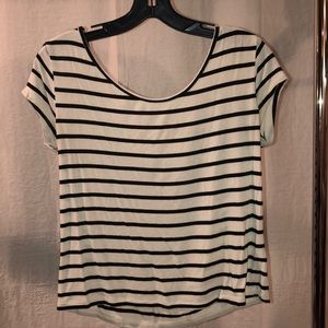 Charlotte Russe Short Sleeve Striped Shirt